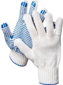 Перчатки трикотажные с ПВХ напылением