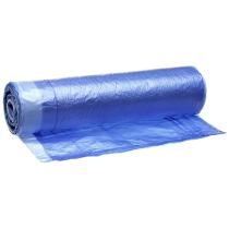 Пакеты для мусора UNIBOB завязками 50 х 60 ПНД 30л, цвет голубой, 20шт/рул